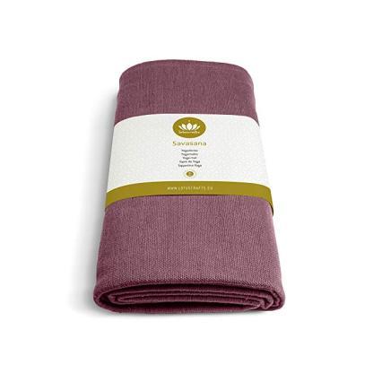 coperta yoga savasana cotone bio 5mm lotuscraft bordeaux