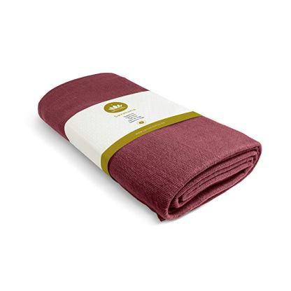 coperta yoga Savasana cotone bio 5mm lotuscraft rossa