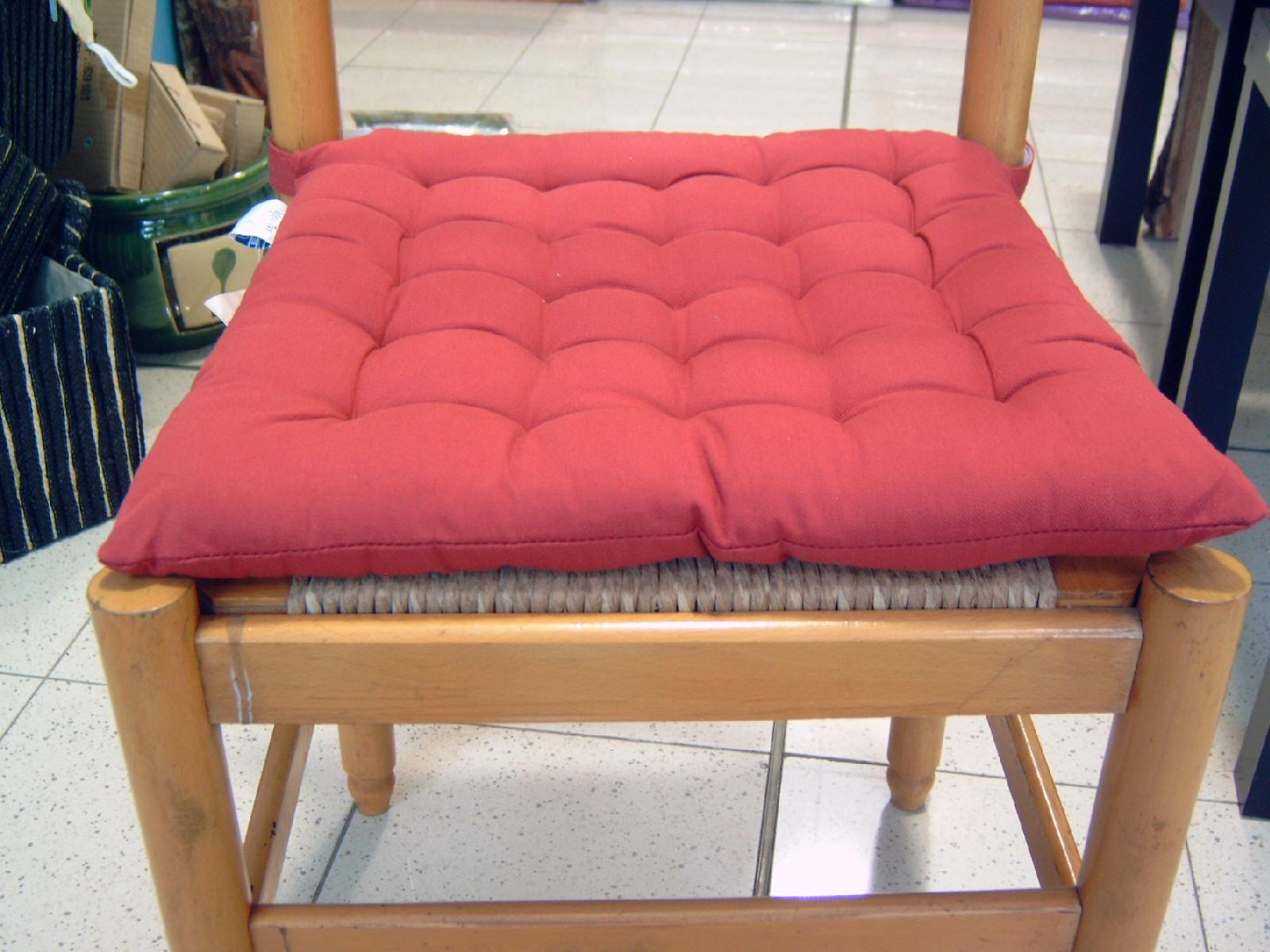 Cuscini sedie cucina in cotone rotondi e quadrati  Bollengo