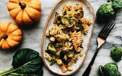 Stovetop Pumpkin & Green Vegetable Pasta