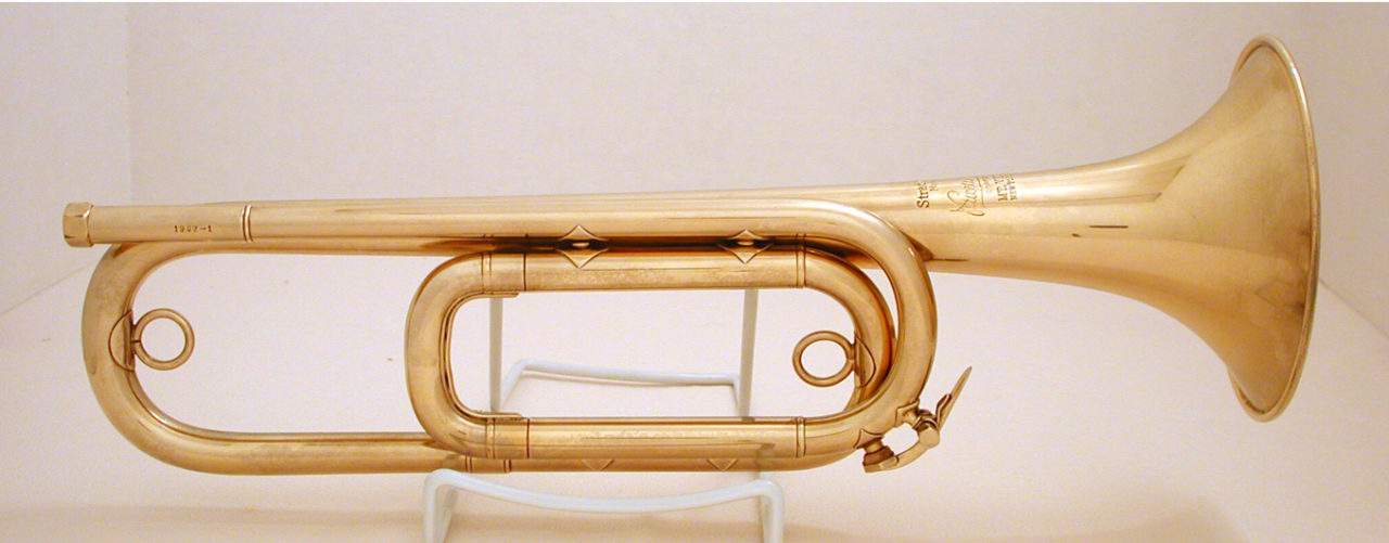 The Bach Field Trumpet (bugle) used by Keith Clark