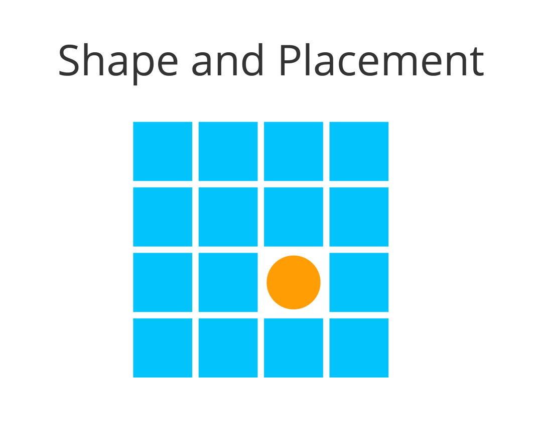 UX portfolio and shape and placement