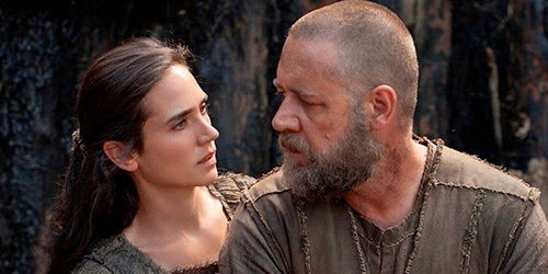 "Jennifer Connelly y Russell Crowe en ""Noé"""