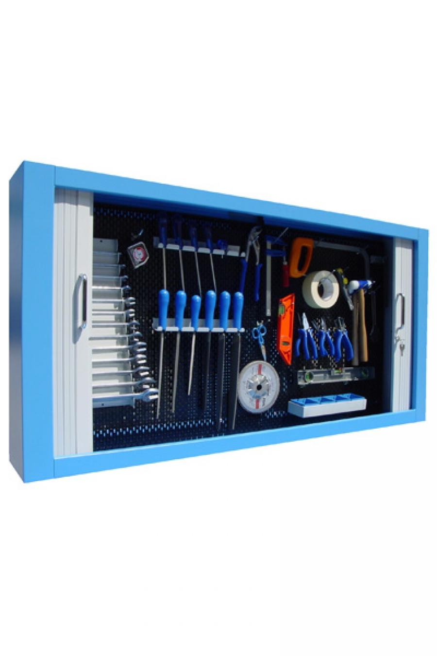 Expositor de herramientas con persiana