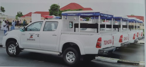 Donation of 10 Hilux Vehicles by Zenith Bank