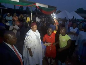 Wukari United Captain Lifts Trophy in Excitement