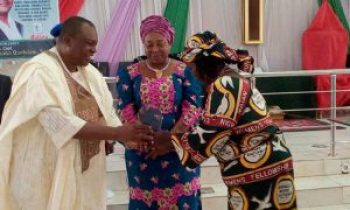 Governor Ishaku Honoured with an Award of Excellence by the Women Wing of TEKAN/ECWA