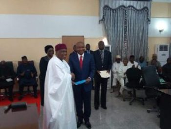 Damien Dinsha Dodo (SAN) inaugurated as member of  the Tataba State Judicial Service Commission.