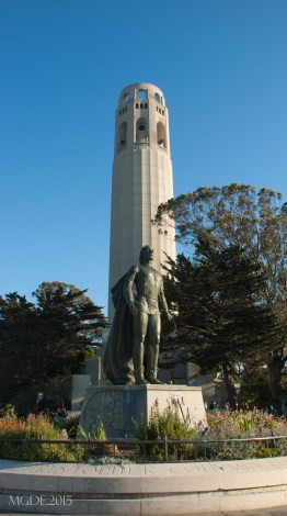 Coit Tower from the parking lot