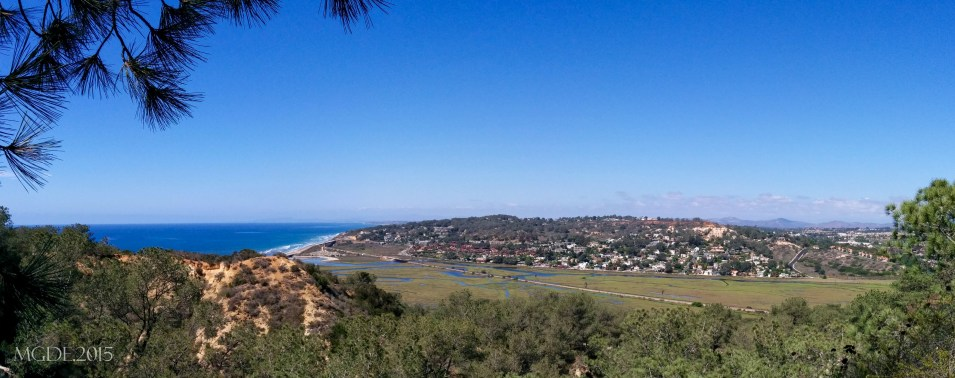 Overlooking Del Mar as viewed from the museum at the top of Torrey Pines State Reserve.