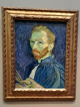 Gogh, Self Portrait, 1889. In NYC, I saw one of his masterpiece, in DC I saw him! :P