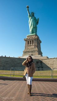 At the Statue of Liberty grounds.