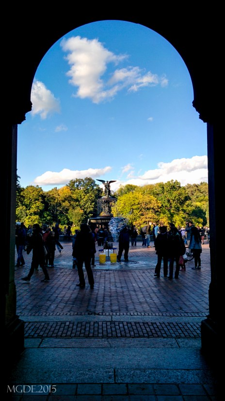 View of the Bethesda fountain from the lower passage.