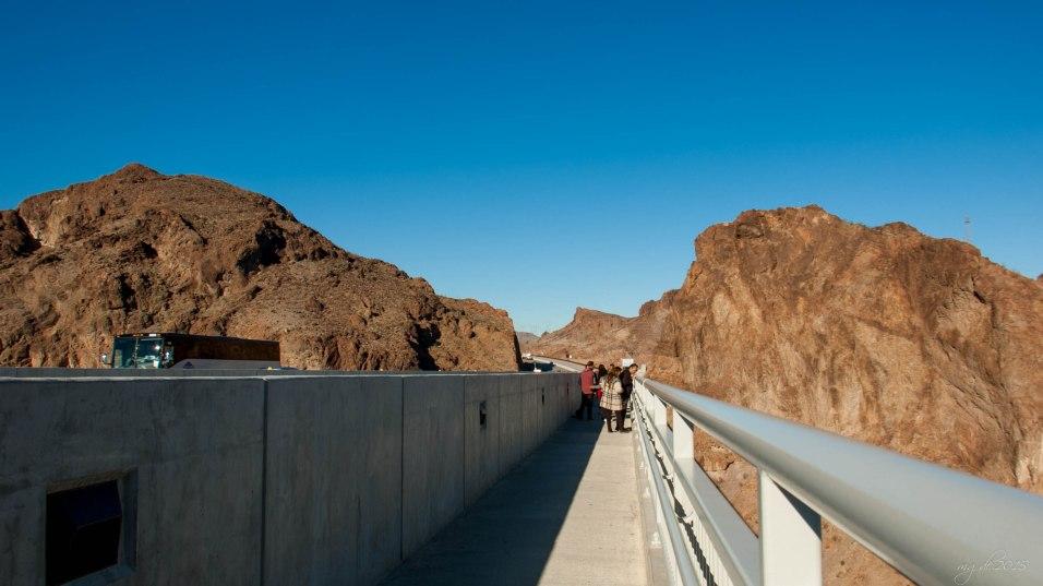 Mike O'Callaghan-Pat Tillman Memorial Bridge was, 2,000-foot-long bridge began in late January 2005. This signature bridge spans the Black Canyon, connecting Arizona and Nevada nearly 900 feet above the Colorado River.