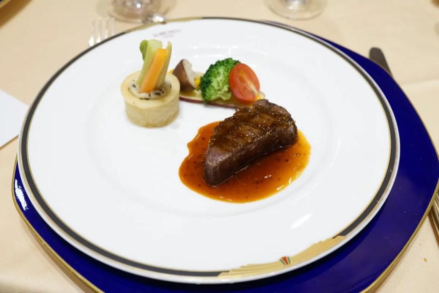 ピカ子さんのメイクアップショー&ディナー 萃香園ホテル 料理の写真