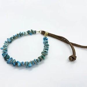Turquoise Gold Adjustable slider bracelet