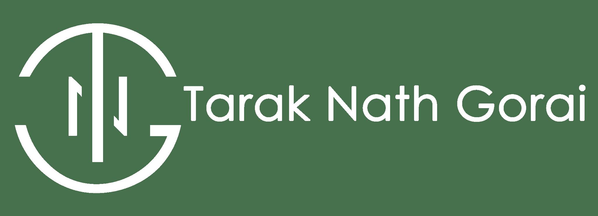 Tarak Nath Gorai Logo White