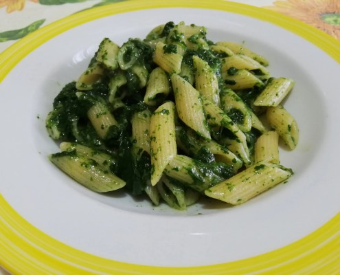 Pennette alla crema di spinaci