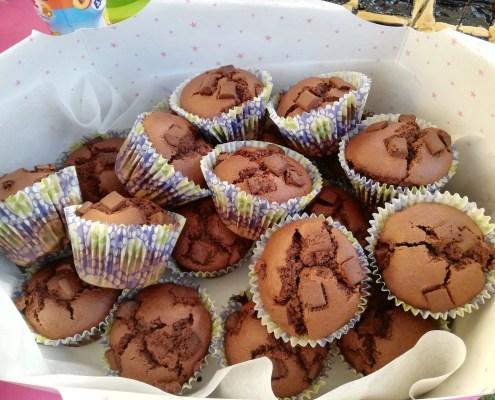 Muffin alla crema di nocciole senza glutine e senza lattosio di zia Marina