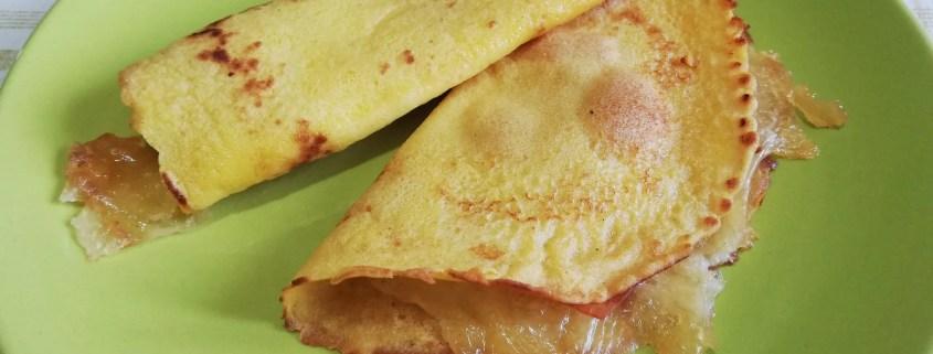 Crepes salate prosciutto e formaggio