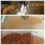 Veneer repair before durning after