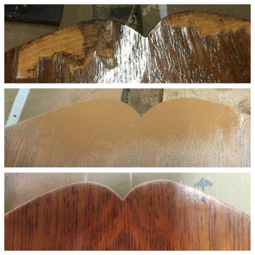 Veneer repair before durning after
