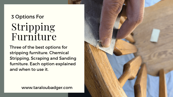3 Options for Stripping Furniture