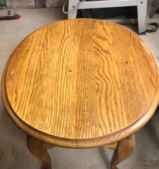 oak table and wood bleach