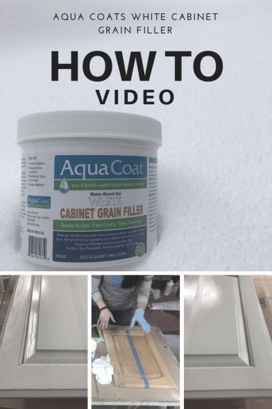 Aqua coat grain filler