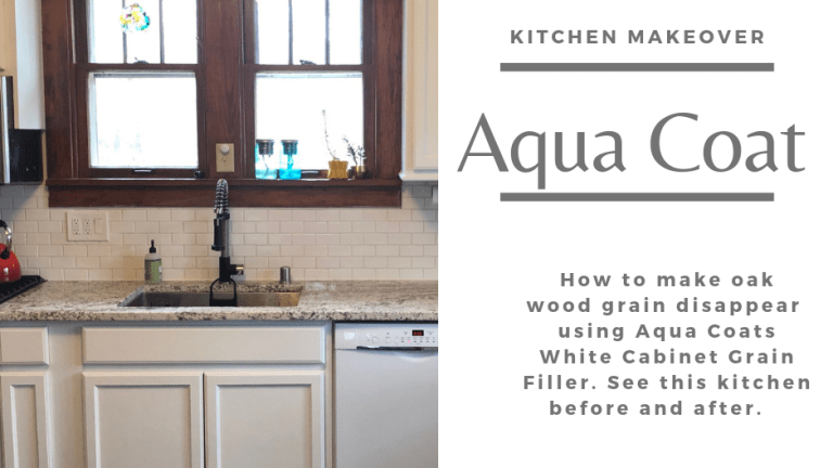Kitchen Makeover –  White Cabinet Wood Grain Filler