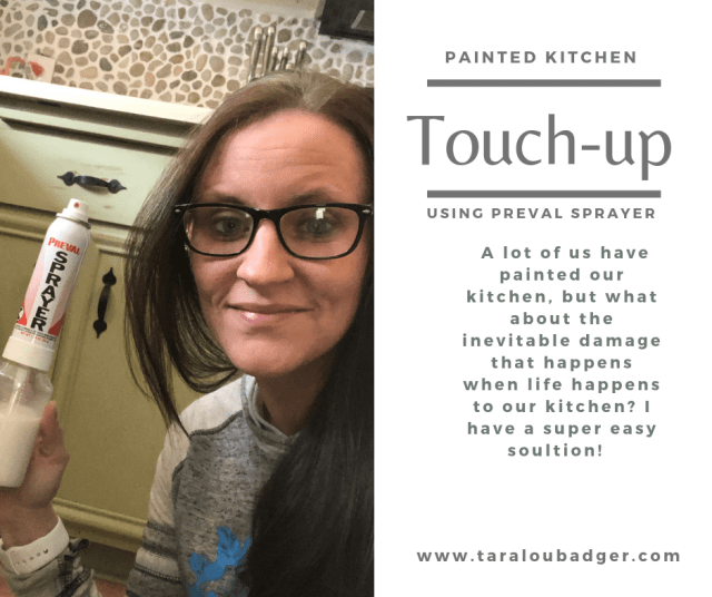 Chipped kitchen cabinets