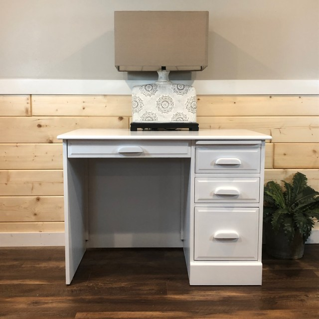 White painted desk