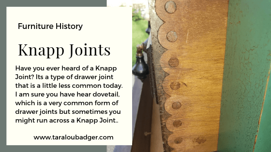 Knapp Joints – Type of drawer joint