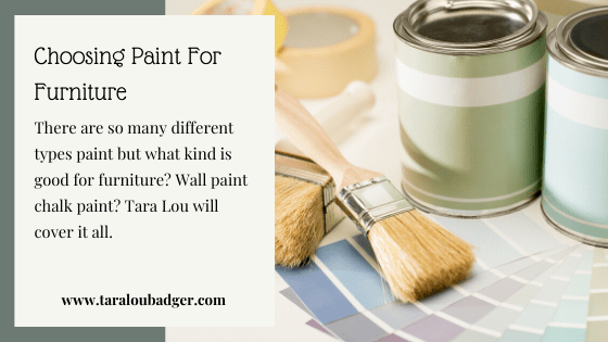 What Type Of Paint To Use On Furniture