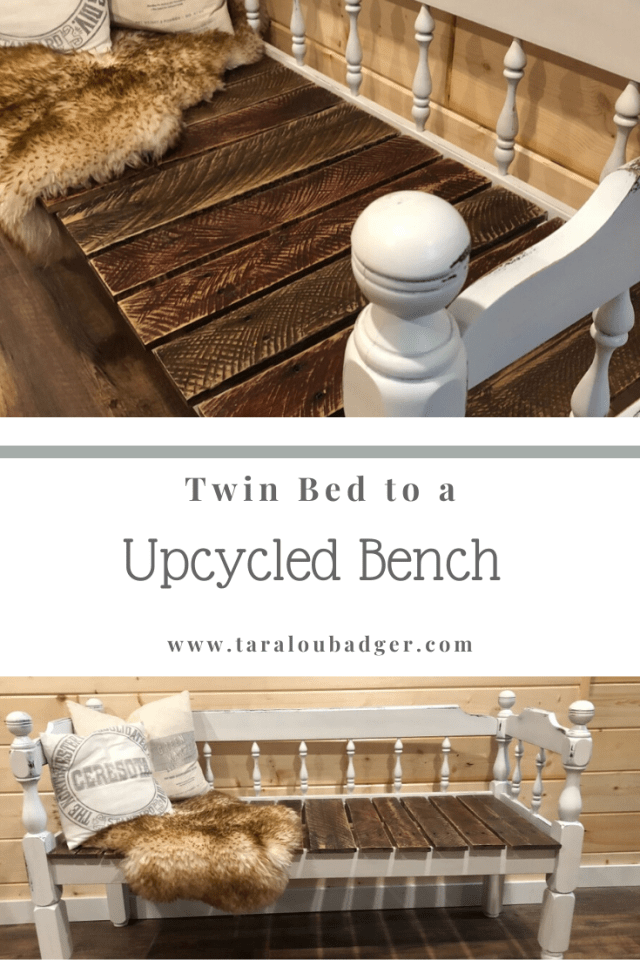 bed up cycled into bench