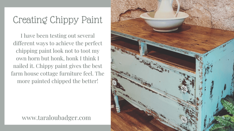 Chippy Paint Technique Using Vaseline