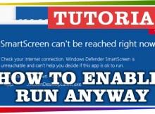 How to enable Run on blocked Windows Defender SmartScreen