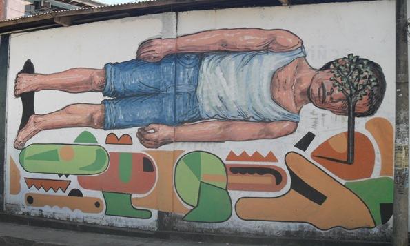 Street art in Tarapoto, Peru