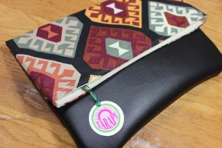 Tribal print clutch