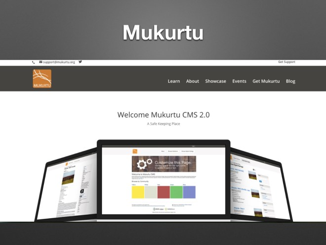 screenshot of Mukurtu website