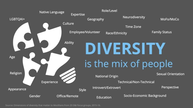 diversity is the mix of people