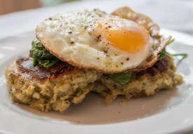 Cheesy stuffing cakes