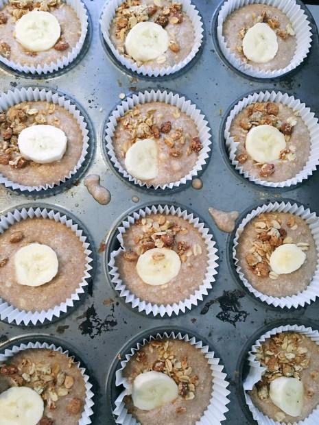Banana and Granola Breakfast Muffins