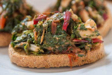 Kale and Cannellini Bean Bruschetta