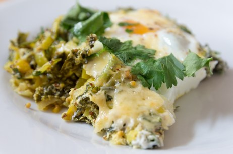 Green Baked Eggs