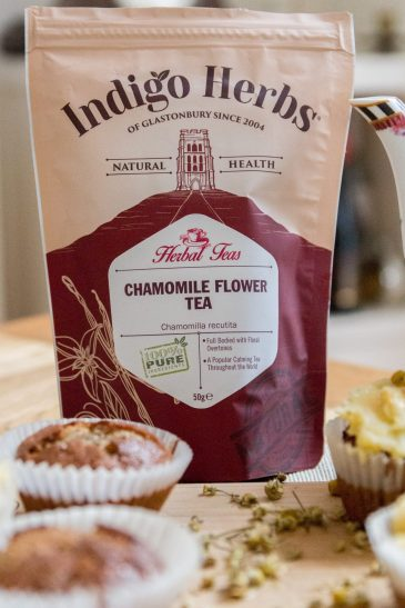 Indigo Herbs Chamomile cupcakes - grain and dairy free
