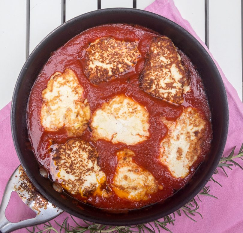 Ricotta Fritters in Tomato Sauce