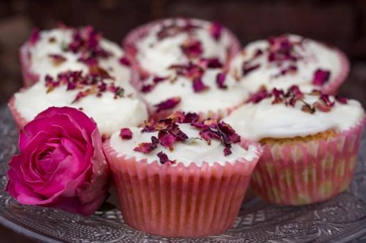 Rosewater cupcakes