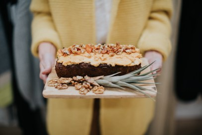 Spiced Pumpkin, Walnut & Chocolate Chip Cake