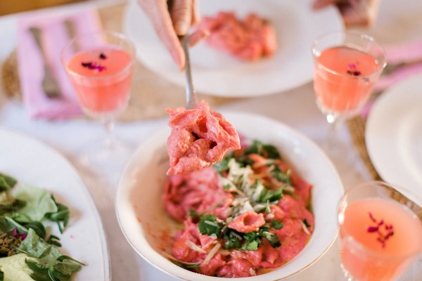 Pretty in pink pasta